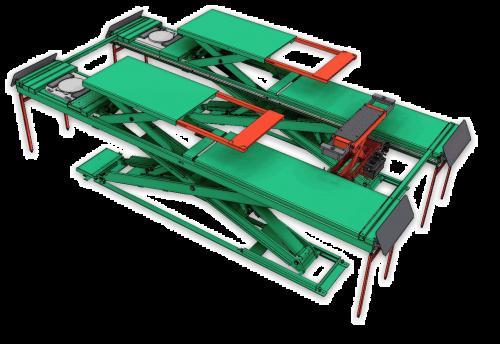 超薄型四輪定位用頂車機 (JS-S-AT35-GA)