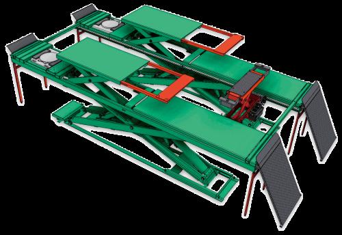 超薄型四輪定位用頂車機 JS-S-AT35-PA
